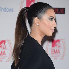 Slicked Back Hair, Kim kardashian at mtv ema
