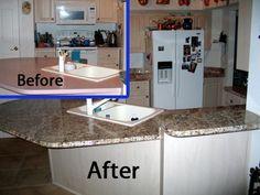 Amazon.com: Instant Granite Counter Top Cover Venecia Gold 36 x 144: Instant Granite Peel And Stick Countertop Granite: Kitchen & Dining...$59!