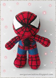 Crochet Amigurumi Spiderman : Spiderman, Amigurumi and Superhero on Pinterest