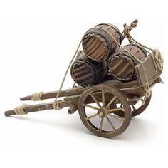 Carreta con barriles para pesebre Nápoles | venta online en HOLYART Wooden Cart, Wooden Wagon, Game Props, Fantasy Miniatures, Le Far West, Miniature Houses, Wheelbarrow, Fairy Houses, Wood Toys