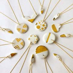Take 20% off all necklaces today in my etsy shop. Porcelain and 22k gold ✨Use code modern20 at checkout