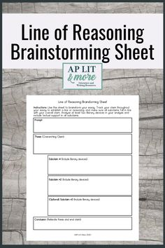 This free graphic organizer helps students brainstorm any AP Lit essay with a strong line of reasoning. English Short Stories, Ap English, Ap Literature, American Literature, Ap Language, English Language, Teaching High Schools, Literary Elements, English Teachers