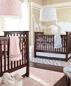 Boy and Girl Twin Nursery (different rugs)