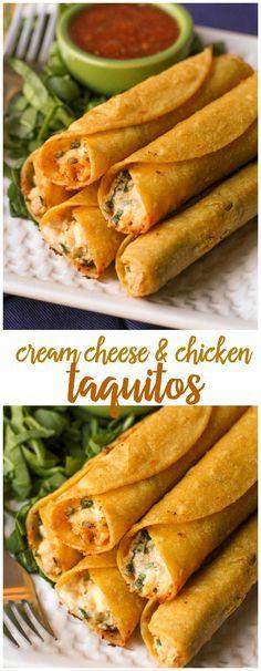 (lilluna.com) Cream Cheese and Chicken Taquitos... they are SO good!! { lilluna.com }