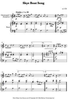 Skye Boat Song (Xylophone) sheet music for Percussion