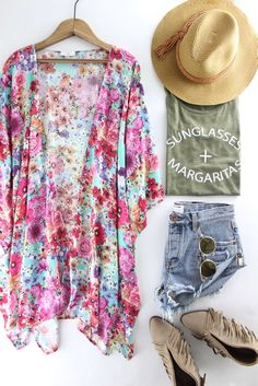 Floral Print Kimono | The Rollin' J | summer outfits | spring style | boutique fashion | therollinj.com