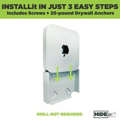 DIY Mac mini Mount installation, drill not required for wall hanging New Mac Mini, Mac Notebook, Vesa Mount, Iphones For Sale, Sliding Wall, Iphone Price, Gold Apple Watch, Silver Walls, New Ipad Pro