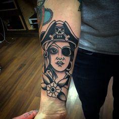 Pirate Lady Tattoo Old School - @richardlazenby