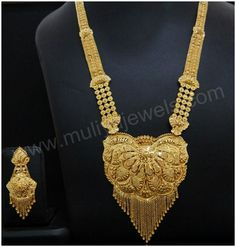 Gold Bangles Design, Gold Earrings Designs, Gold Jewellery Design, Gold Wedding Jewelry, Gold Jewelry, Gold Haram, Gold Costume Jewelry, Gold Mangalsutra Designs, Gold Ornaments