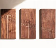 Power Pole Tryptych by Dave Marcoullier