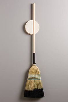Poplar Broomstick Holder