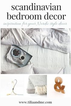 Here I have curated my top picks for bedroom decor items to create a Scandinavian style bedroom. This style is both simple and elegant with rustic elements which I love - and being a Scandinavian myself I thought I would share my favourite ideas. #nordicdesign #scandinaviandesign #homedecor #nordichome #scandinaviandecor #bedroomdecor