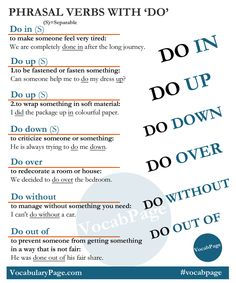 Phrasal verbs with 'DO' #English  #LearnEnglish #EnglishVocabulary @English4Matura