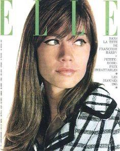 Françoise Hardy on the Cover of Elle. Françoise Hardy, Fashion Cover, 1960s Fashion, Women's Fashion, Ringo Starr, Elle Moda, Elle Magazine, Magazine Covers, Vintage Magazines