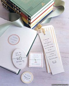 Personalized Books for Baby Handmade Gifts | Martha Stewart Living — It's never too early to begin a child's library, and a set of classics.