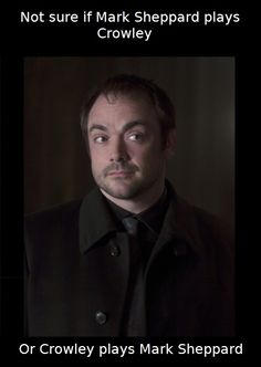 I think that Crowley plays Mark Sheppard. Because Mark is almost always the same. Just saying.