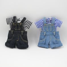 Blyth Doll Clothes for Blyth Dolls ,Azone Doll Jeans Trousers T-shirt Accessories Salopette Short, Salopette Jeans, Short Noir, Short Jumpsuit, Denim Overalls, Denim Jumpsuit, Blythe Dolls, Reborn Dolls, Nice Body