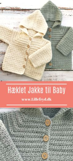 Baby Hats Knitting, Baby Knitting Patterns, Baby Patterns, Crochet Patterns, Crochet Bebe, Knit Crochet, Crochet Jacket, Baby Cardigan, Baby Sweaters