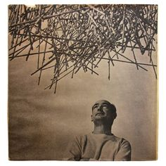 "photo, Harry Bertoia with wire sculpture, for ""Harry Bertoia, Sculptor"" by June Kompass Nelson, 1970"