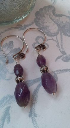 Amethyst with Karen Hilltribe Silver Earrings £19.00
