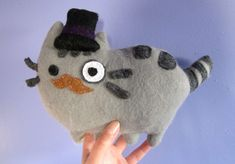 Pusheen Plushie  •  Free tutorial with pictures on how to make a cat plushie in under 90 minutes