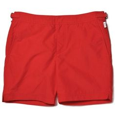 father's day gift guide | red swim trunks | orlebar brown