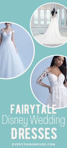 See the new Disney Wedding Dress Collection for 2021. Want to look like Princess Cinderella, Belle, or Rapunzel in these magnificent wedding dresses. Available now in size 0 to 30. Disney Wedding Dresses, Rapunzel, Dress Collection, Cinderella, Princess, Disney Wedding Gowns, Tangled, Princesses