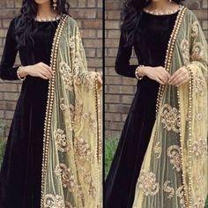 Black velvet churidar suit online. Please msg or whatsapp at 0169179180 for order details.  #andaazfashion #trends #ootd #people #queen #bestfriend #black #velvet #churidar #like4like #likeforlike #likeforfollow #followforfollow #followme