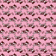 bully_pattern_pink, Lotta Bruhn