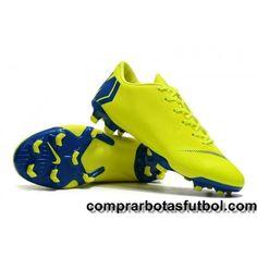 e265ce74bd4 Baratos Botas De Futbol Nike Mercurial Vapor XII Pro FG Amarillo Azul