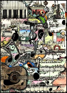 Colourful Art on Sheet #music