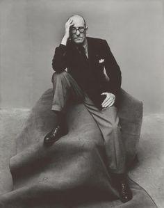 """photo-reactive: """"""""Irving Penn, Le Corbusier, New York, 1947 """" """" Le Corbusier, Artistic Photography, Portrait Photography, Fashion Photography, White Photography, Photography Tips, Irving Penn Portrait, Auguste Herbin, Famous Architects"""