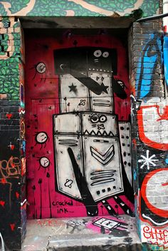 Graffiti Door, Melbourne Australia