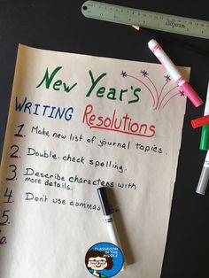New Year's Writing Resolutions - lesson idea to start off a new semester of writing in middle school or upper elementary language arts class Writing Lessons, Writing Process, Writing Skills, Writing Activities, Middle School Writing, Thing 1, Teaching Language Arts, Teacher Blogs, School Lessons