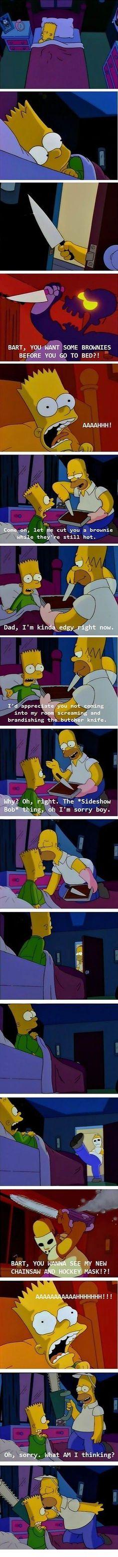 Worst Dad ever. Gotta love the Simpsons!