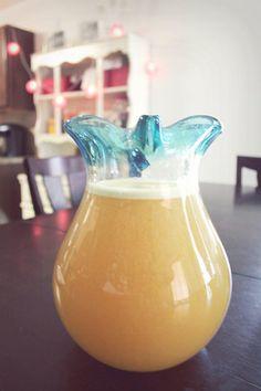 homemade mango green tea