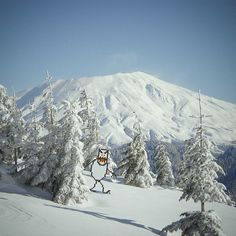 Skifree - see http://pinterest.com/pin/297715938/