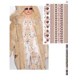 Autumn/Winter 21/22 Print Trend - Decorative Borders - Patternbank Autumn Winter Fashion, Fall Winter, Pantone Colour Palettes, Flow Design, Winter Wedding Colors, Folk, Decorative Borders, Ethnic Patterns, Textiles