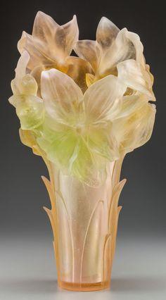 France, late C, Daum Art Of Glass, Art Deco Glass, Cut Glass, Art Nouveau, Glass Ceramic, Ceramic Art, Crystal Glassware, Antique Glass, Glass Collection