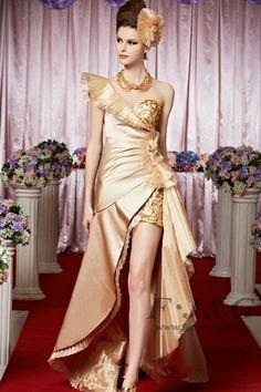 2014 New One Shoulder Pleated Evening Dress 30350-Florianne series  www.fjg-store.com