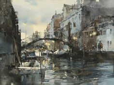 Chien Chung-Wei 簡忠威 is an award winning Taiwanese watercolour artist making his teaching debut in North America. Watercolor Architecture, Watercolor Landscape Paintings, Pen And Watercolor, Watercolor Artists, Artist Painting, Art And Architecture, Painting & Drawing, Art Society, Dusk