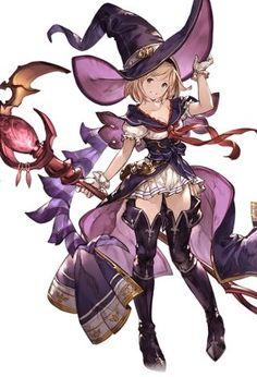 僕らのグランブルーファンタジー Game Character Design, Fantasy Character Design, Character Concept, Character Inspiration, Character Art, Manga Characters, Fantasy Characters, Female Characters, Anime Witch