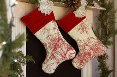 How to Make Christmas Stockings from a purchased quilt