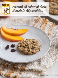 Coconut Oil Oatmeal Dark Chocolate Chip Cookies