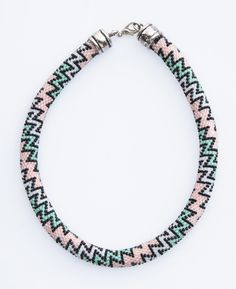 "❤ ""Pastel Zigzag"" Necklace by Natalia Dąbrowska #Lowyt"