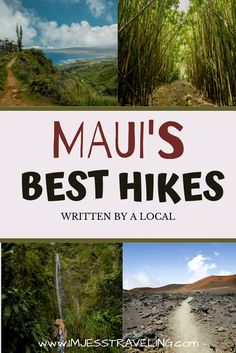 There's no better way to explore an area than hiking its foreign landscape and getting views that are usually out of this world.  Here is a list of the best hikes on Maui written by a local. Canada Travel, Travel Usa, Travel Tips, Globe Travel, Travel Ideas, Hikes In Maui, Hawaii Hikes, Travel Around The World, Around The Worlds
