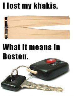 funny photo lost khakis in boston lost car keys