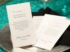 """Ask guests to do YOU a favor! Check out these great """"pay it forward"""" wedding favor ideas: http://blog.myjeanm.com/2013/08/ask-guests-to-do-you-a-favor-5852.html #wedding #favors"""