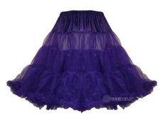 """Hell Bunny 50's Petticoat 25"""" Length   Purple"""
