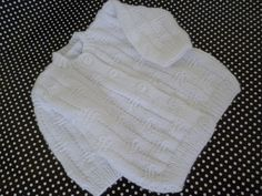 Knitted Christening or Coming Home Newborn Outfit Suit by Pitusa